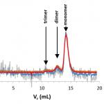 chromatograms of BSA using light scattering